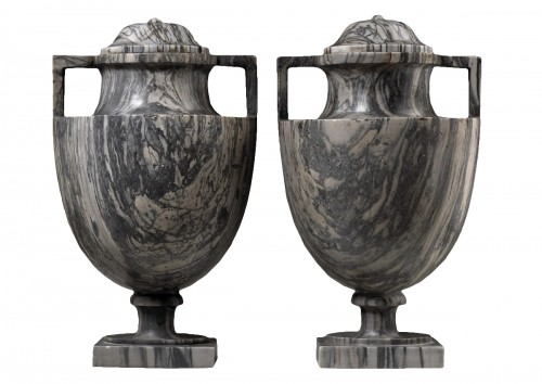 Pair of Bardiglio Vases