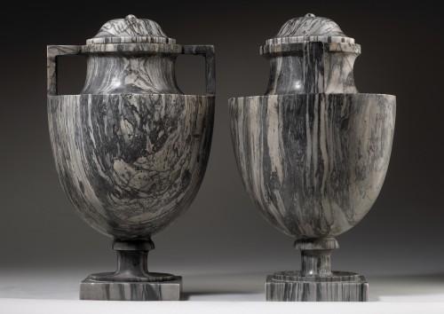 Pair of Bardiglio Vases -