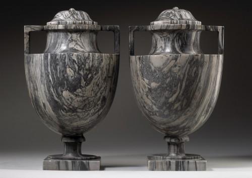 - Pair of Bardiglio Vases