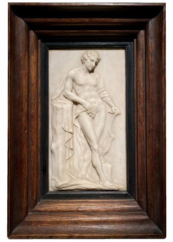 Marble Relief of Apollo