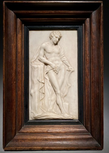 19th century - Marble Relief of Apollo