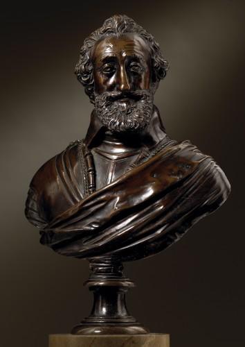 Buste of Henry IV  workshop of Barthélemy Prieur - Sculpture Style Renaissance
