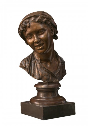 Bust of a Napolitan as Carmela, bronze, Milan