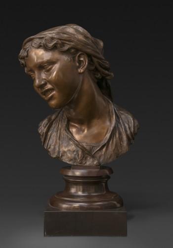 Bust of a Napolitan as Carmela, bronze, Milan - Sculpture Style Napoléon III