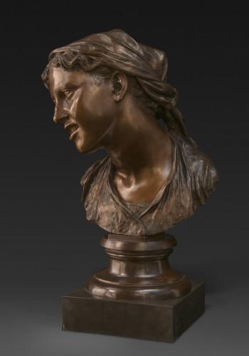 Sculpture  - Bust of a Napolitan as Carmela, bronze, Milan