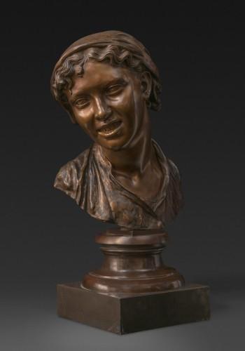 Bust of a Napolitan as Carmela, bronze, Milan - Napoléon III