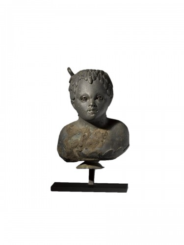 Balsamarium shaped as a Bust of an African Boy