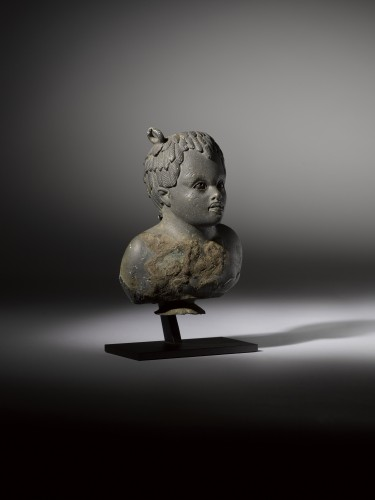 Balsamarium shaped as a Bust of an African Boy - Ancient Art Style