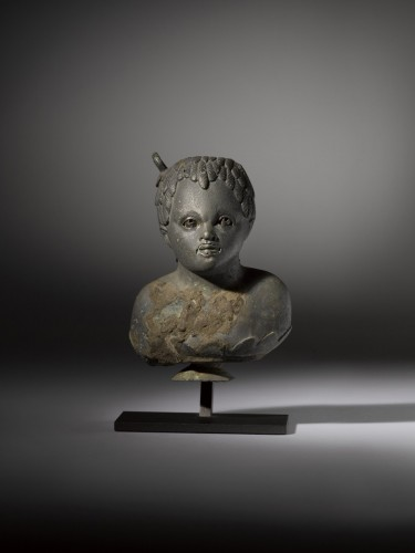 Ancient Art  - Balsamarium shaped as a Bust of an African Boy