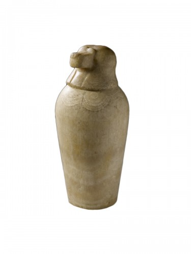 Alabaster Canopic Jar of Hapi, Egyptian, Late Period (XXVI-XXX Dyn  / 664 –