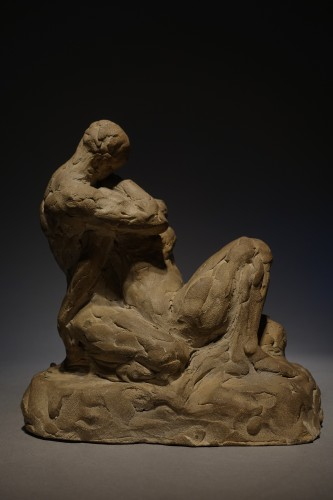Sculpture  - intertwined lovers - Georges Petit (1879 - 1958)