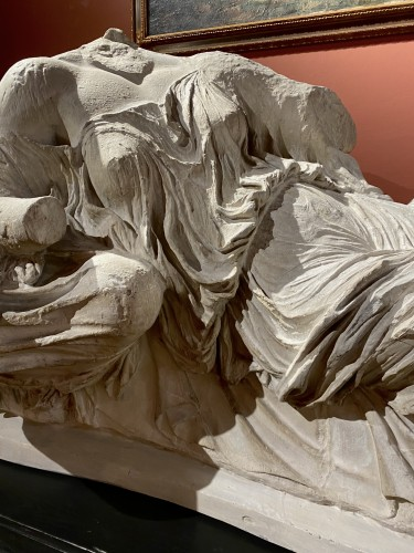 20th century - Monumental plaster of Thalassa and Gaia