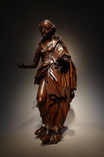 statuette of the Virgin, South-German circa 1600 - Sculpture Style Renaissance
