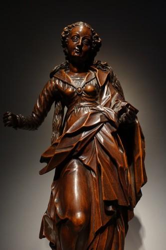 Antiquités - statuette of the Virgin, South-German circa 1600