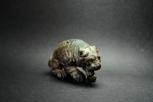 Ancient Roman Statuette of a Tiger - Ancient Art Style