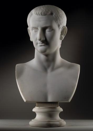 Pair of marble busts -  Marcus Aurelius & Domitianus - Sculpture Style