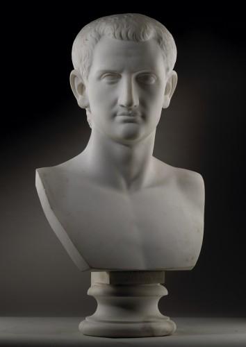 Sculpture  - Pair of marble busts -  Marcus Aurelius & Domitianus
