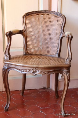 Set of 6 Louis XV cabriolet armchairs - Seating Style Louis XV