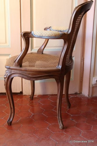 Seating  - Set of 6 Louis XV cabriolet armchairs