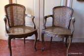 Set of 6 Louis XV cabriolet armchairs