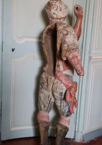 Sculpture  - A late 17th early 18th century polychrome wood sculpture