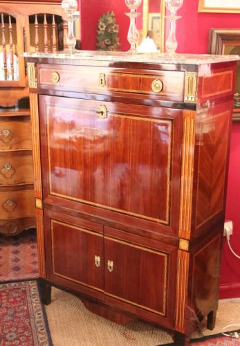 A Louis XVI drop front secretary