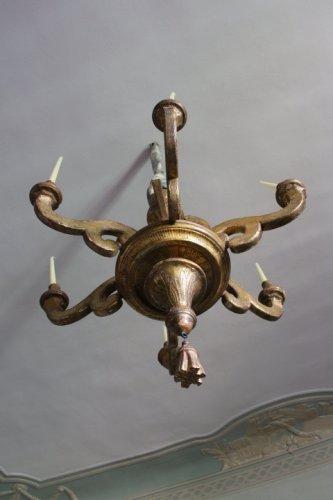A large Louis XIV giltwood chandelier - Louis XIV