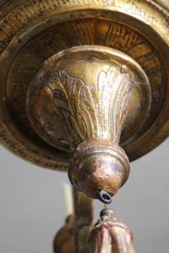 Louis XIV - A large Louis XIV giltwood chandelier