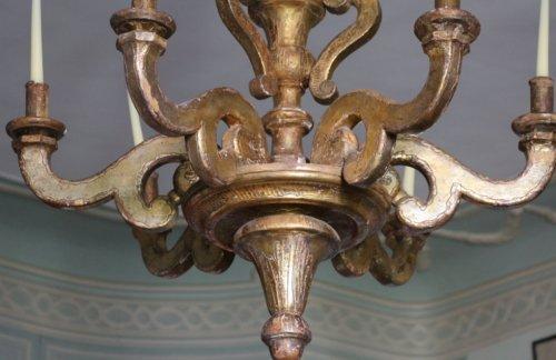 Antiquités - A large Louis XIV giltwood chandelier