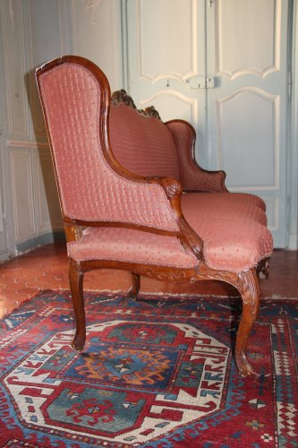 Antiquités - Early 18th century walnut sofa