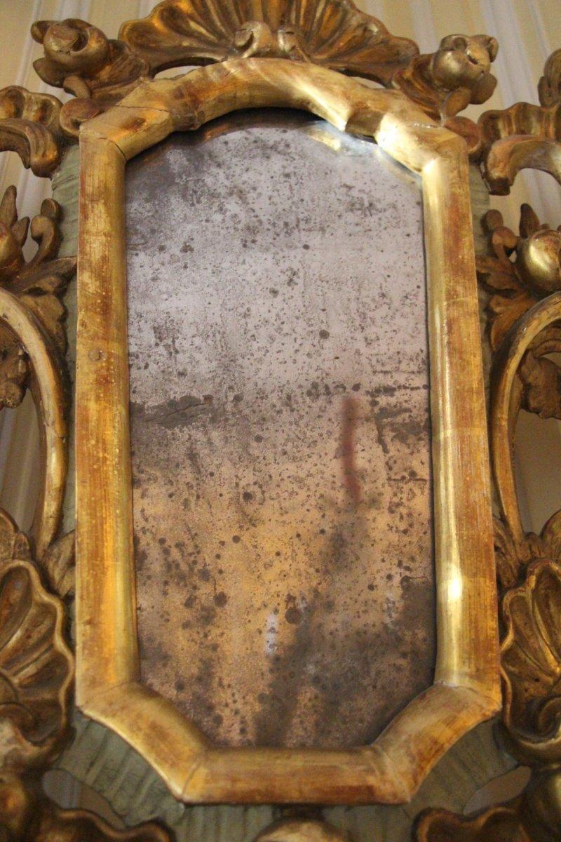 Miroir en bois dor venise xviiie si cle for Miroir xviii