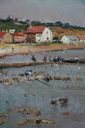 Antiquités - Alfred Casile (1848-1909) - Seaside in Provence