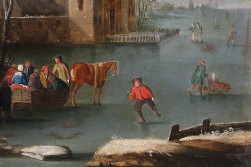 Paintings & Drawings  - Snowy Landscape - Flemish school of the seventeenth century