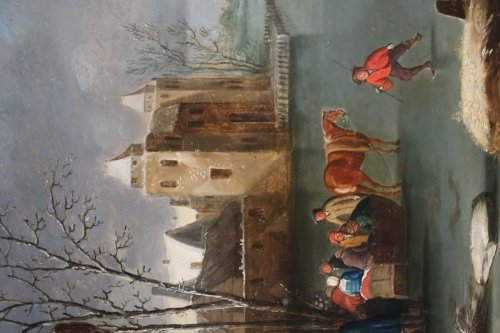 Snowy Landscape - Flemish school of the seventeenth century -