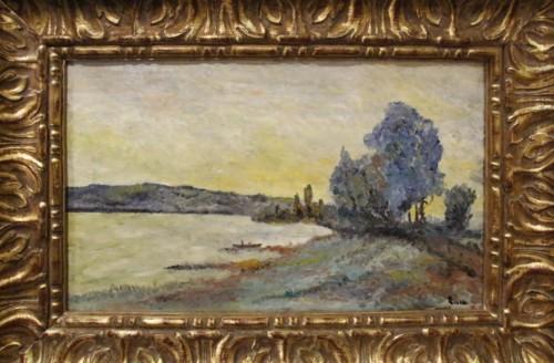 Edge of Seine  - Maximilien LUCE (1848-1941)