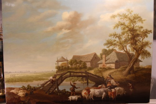 Animated landscape - Northern School, signed Jeregels dated 1704 - Paintings & Drawings Style Louis XIV