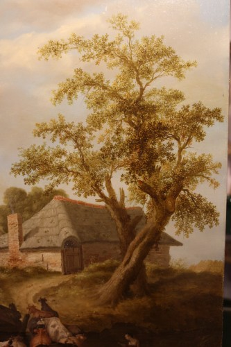 Louis XIV - Animated landscape - Northern School, signed Jeregels dated 1704