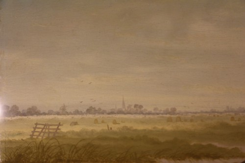 Antiquités - Animated landscape - Northern School, signed Jeregels dated 1704