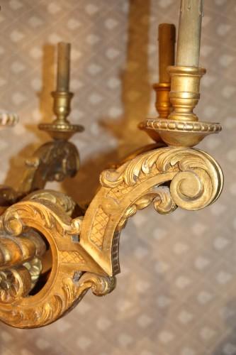 Gilded wood chandelier, circa 1850 - Napoléon III