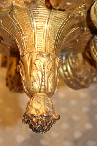 Napoléon III - Gilded wood chandelier, circa 1850