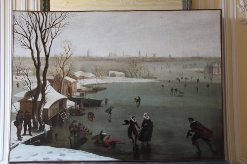 Paintings & Drawings  - Skaters on a frozen lake - Dutch school of the late 16th century