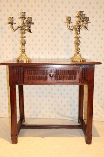 Convent table, Avignon 17th century - Furniture Style Louis XIV
