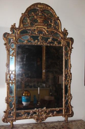 Large Louis XV mirror   - Mirrors, Trumeau Style Louis XV