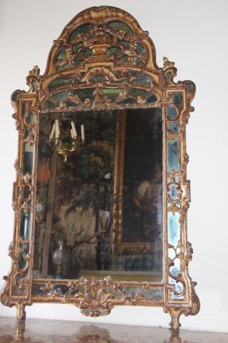 18th century - Large Louis XV mirror
