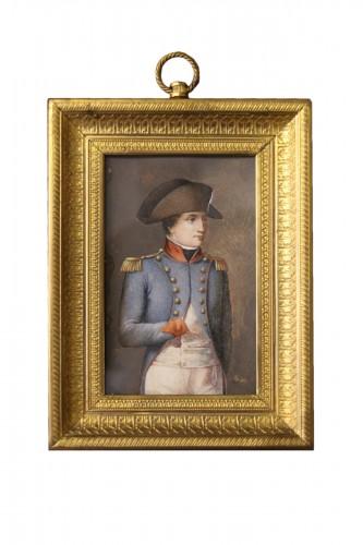 Napoleon Bonaparte in military dress, miniature on ivory circa 1800