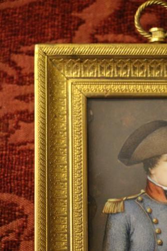 Antiquités - Napoleon Bonaparte in military dress, miniature on ivory circa 1800