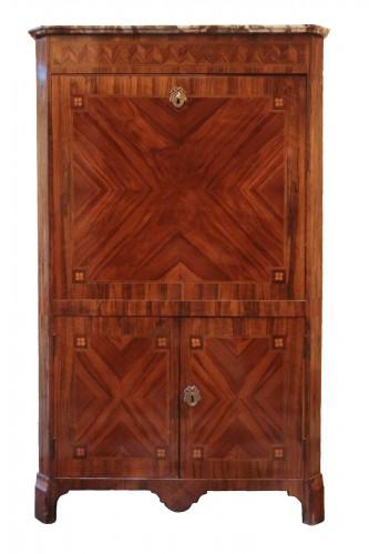 Louis XVI period secretary in wood veneer