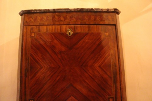 Louis XVI period secretary in wood veneer  -