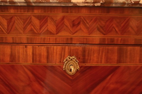 Louis XVI - Louis XVI period secretary in wood veneer
