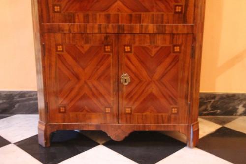 Antiquités - Louis XVI period secretary in wood veneer